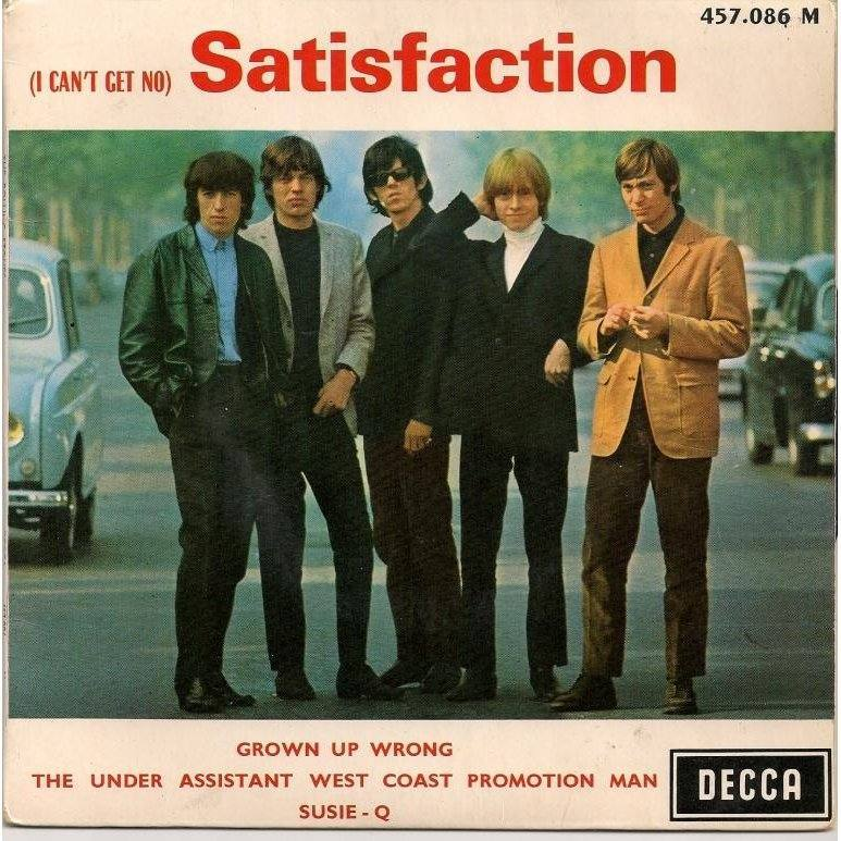 "Cover for the Rolling Stones' ""Satisfaction"" single"