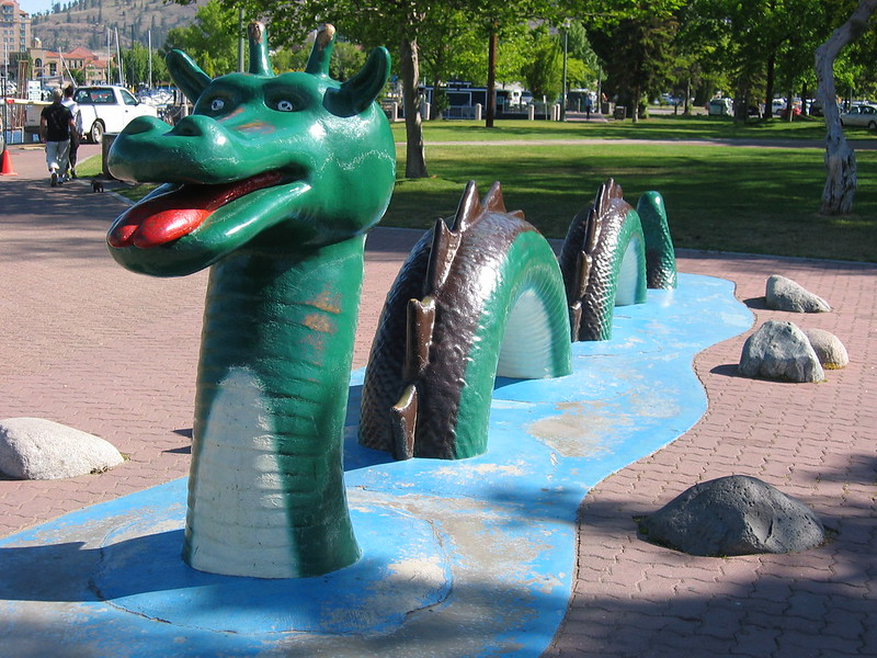 Ogopogo statue. (Photo by aa440 via Flickr/Creative Commons https://flic.kr/p/4GfZR7)