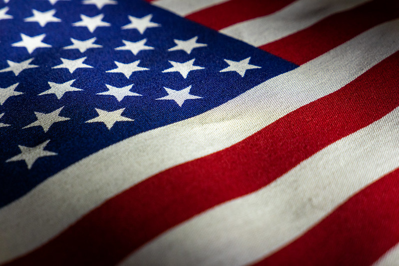 Close up on American flag (Photo by Jonathan Cutrer via Flickr/Creative Commons https://flic.kr/p/2grnctM)