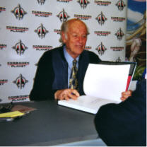 Ray Harryhausen at a signing in London. (Photo by Danie Ware via Flickr/Creative Commons https://flic.kr/p/KPQcJ)