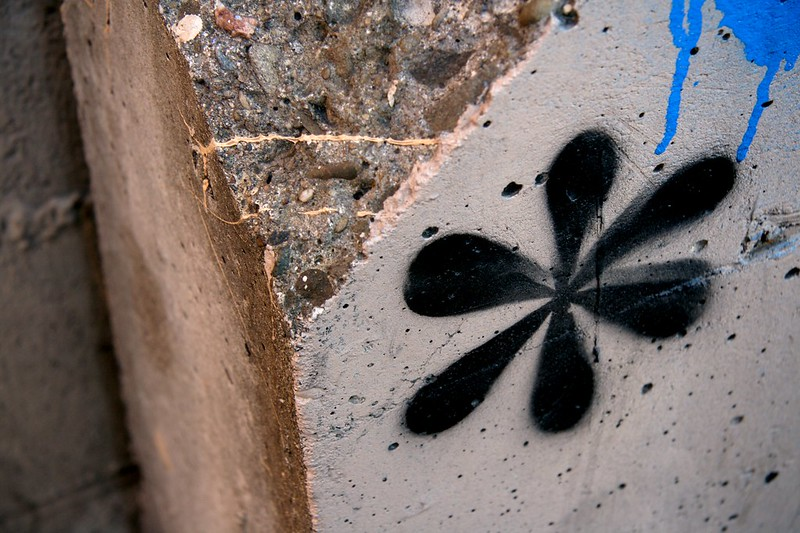 A black asterisk painted onto a grey surface. (Photo by Jeremy Brooks via Flickr/Creative Commons https://flic.kr/p/2J4SuZ)