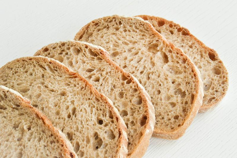 Sliced bread, arranged neatly in a cascading row. (Photo by Marco Verch via Flickr/Creative Commons https://flic.kr/p/FqFA4K)