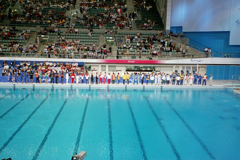A pool at the 2000 Summer Olympics in Sydney. (Photo by Erick Opena via Flickr/Creative Commons https://flic.kr/p/gMRAH)