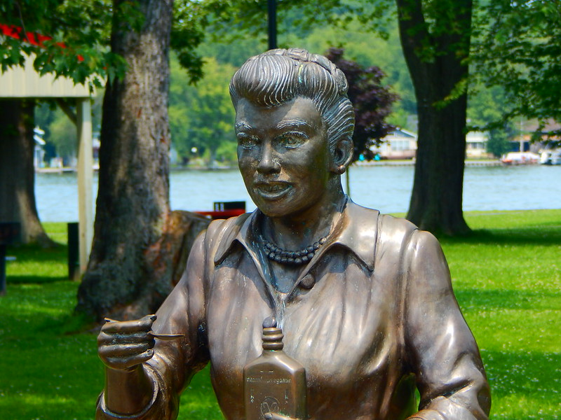 """The """"Scary Lucy"""" statue in Celeron, NY. (Photo by Adam Moss via Flickr/Creative Commons https://flic.kr/p/vDWYCn)"""
