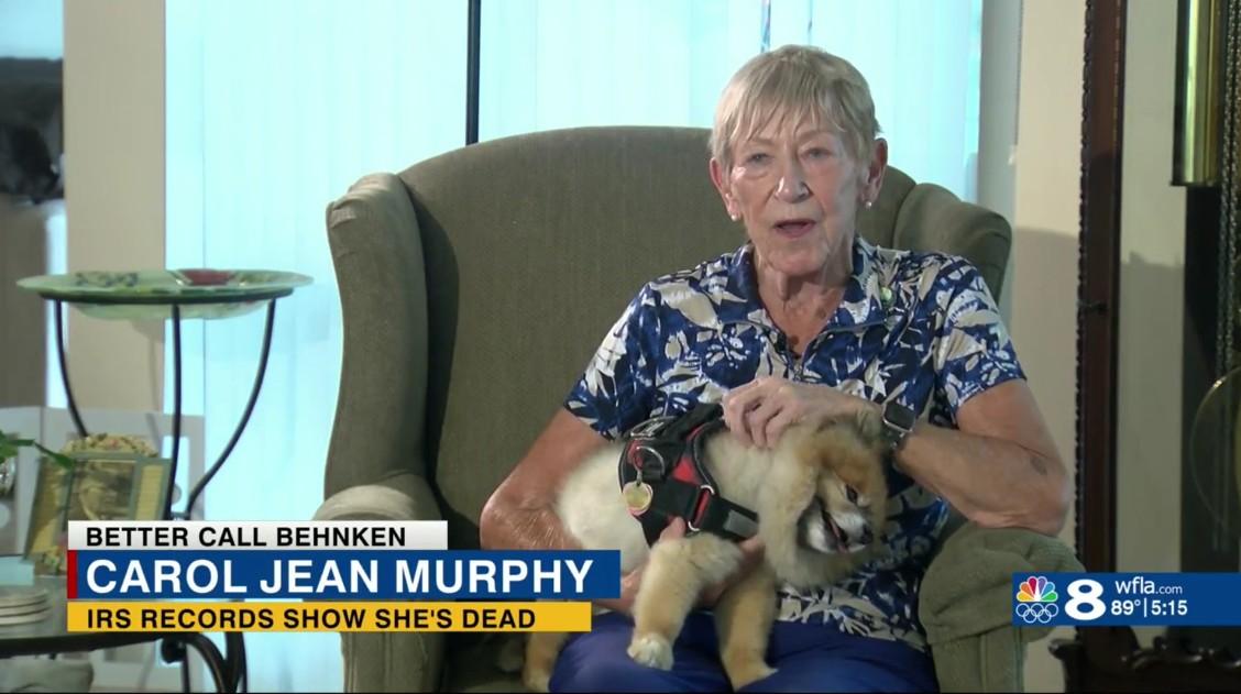 Carol Jean Murphy: IRS Records Show She's Dead