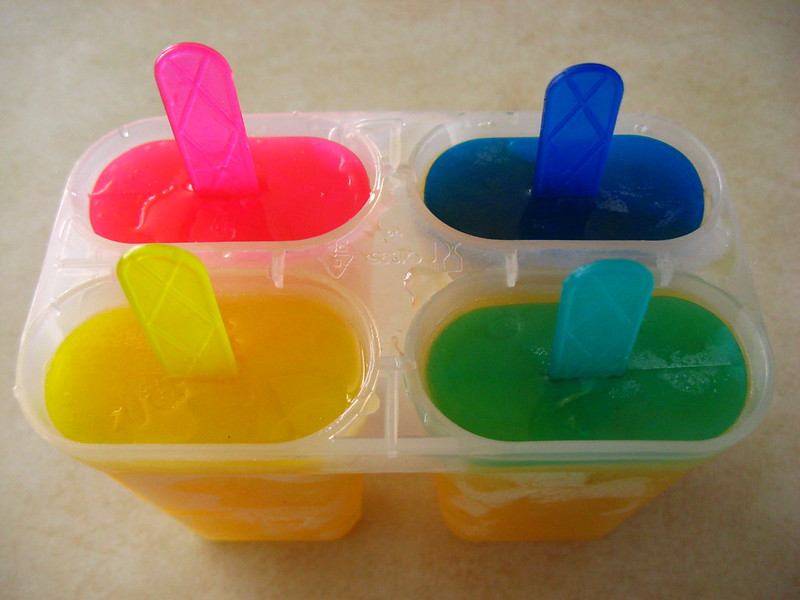 Four popsicles in a mold. (Photo by Nicole North Rodriguez via Flickr/Creative Commons https://flic.kr/p/89N4ys)
