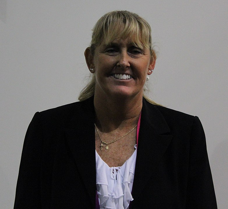 Trischa Zorn at the London Paralympic Games in 2012. By User:LauraHale - Cropped version of File:Trischa Zorn 2.JPG, CC BY-SA 3.0, https://commons.wikimedia.org/w/index.php?curid=29564760